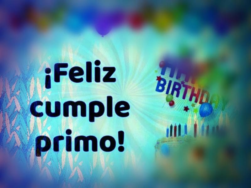 Feliz Cumpleaños Primo O Prima
