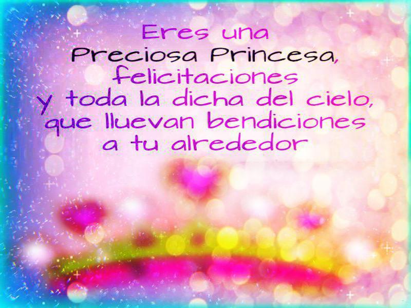 Mensajes Y Frases De Feliz Cumpleanos Para Una Princesa